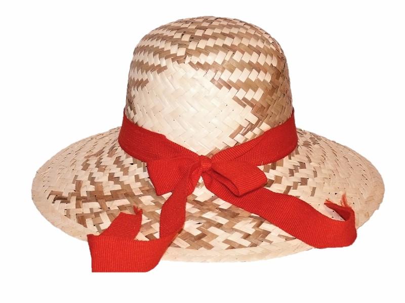 Slaměný klobouk s červenou stuhou 5a33f1d586
